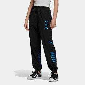【公式】アディダス adidas ラージロゴ トラックパンツ(ジャージ) オリジナルス レディース ウェア ボトムス ジャージ パンツ 黒 ブラック FS7240 下