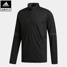 【公式】アディダス adidas 返品可 ゴルフ WARP KNIT 長袖ハーフジップレイヤー メンズ ウェア・服 アウター ジャケット 黒 ブラック FT1537 notp