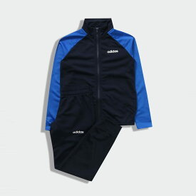 【公式】アディダス adidas ジム・トレーニング B ESSENTIALS トリコットジャージ上下セット キッズ ウェア セットアップ ジャージ 青 ブルー EI7954 上下
