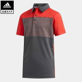 【公式】アディダス adidas ゴルフ BOYS チェストストライプ 半袖シャツ【ゴルフ】 キッズ ウェア トップス ポロシャツ 赤 レッド FI8707