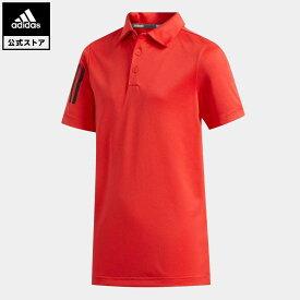 【公式】アディダス adidas ゴルフ BOYS スリーストライプス 半袖シャツ【ゴルフ】 キッズ ウェア トップス ポロシャツ 赤 レッド FI8712