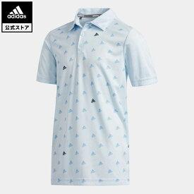 【公式】アディダス adidas ゴルフ BOYS BOSモノグラム 半袖シャツ【ゴルフ】 キッズ ウェア トップス ポロシャツ 青 ブルー FI8716