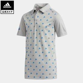 【公式】アディダス adidas ゴルフ BOYS BOSモノグラム 半袖シャツ【ゴルフ】 キッズ ウェア トップス ポロシャツ グレー FI8722
