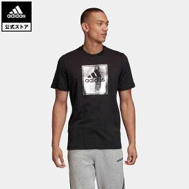 【公式】アディダス adidas ロゴ ボックスフォイル 半袖Tシャツ / Logo Box Foil Tee メンズ ウェア トップス Tシャツ 黒 ブラック GD5929 半袖