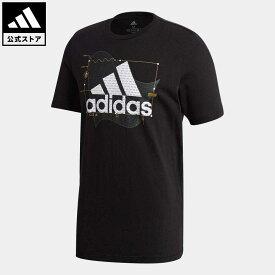 【公式】アディダス adidas 返品可 アディダス アスレティクス グラフィック 半袖Tシャツ / adidas Athletics Graphic Tee アスレティクス メンズ ウェア・服 トップス Tシャツ 黒 ブラック GE4707 半袖