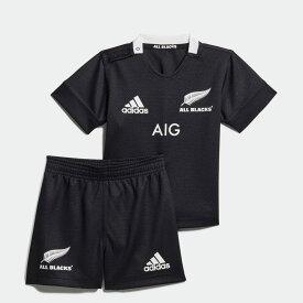 【公式】アディダス adidas ラグビー オールブラックス ホーム インファントキット / All Blacks Home Infants Kit キッズ ウェア セットアップ ユニフォーム 黒 ブラック CW3132 上下
