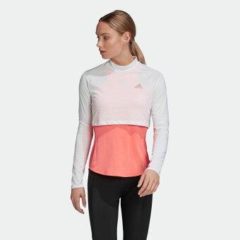 【公式】アディダス adidas ランニング アダプト Tシャツ / Adapt Tee レディース ウェア トップス Tシャツ 白 ホワイト FT0480 ランニングウェア ロンt