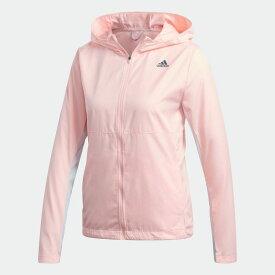 【公式】アディダス adidas ランニング オウン ザ ラン フード付き ウインドジャケット / Own the Run Hooded Wind Jacket レディース ウェア アウター ジャケット オレンジ GC6867 ランニングウェア p0122