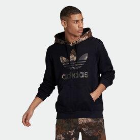 【公式】アディダス adidas カモ パーカー オリジナルス レディース メンズ ウェア トップス パーカー スウェット 黒 ブラック GD5956 トレーナー