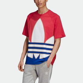 【公式】アディダス adidas ビッグトレフォイル カラーブロック 半袖Tシャツ オリジナルス レディース メンズ ウェア トップス Tシャツ ピンク GE6222 半袖