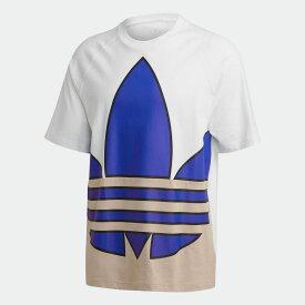 【公式】アディダス adidas ビッグトレフォイル カラーブロック 半袖Tシャツ オリジナルス レディース メンズ ウェア トップス Tシャツ 白 ホワイト GE6223 半袖 p1030