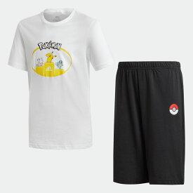 【公式】アディダス adidas ポケモン 半袖セットアップ / Pokemon Short Sleeve Set キッズ ボーイズ ウェア セットアップ GI4597 p0810