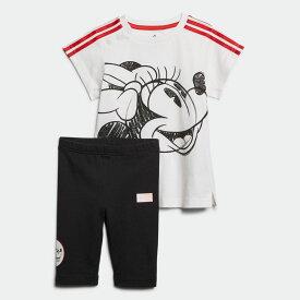 【公式】アディダス adidas ジム・トレーニング ディズニー / ミニーマウス サマーセット / Minnie Mouse Summer Set キッズ ウェア セットアップ 白 ホワイト GD3726 上下 p1030