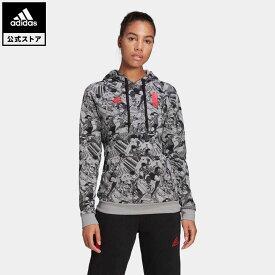 【公式】アディダス adidas サッカー キャプテン翼 パーカー / Captain Tsubasa Hoodie レディース ウェア トップス パーカー(フーディー) スウェット(トレーナー) 黒 ブラック GK3444