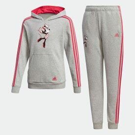 【公式】アディダス adidas ジム トラックスーツ(ジャージ上下セット) / Gym Track Suit キッズ ウェア セットアップ ジャージ グレー GP9669 上下
