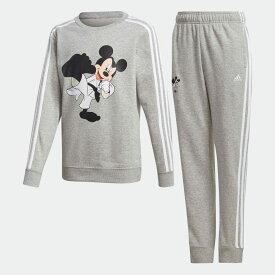 【公式】アディダス adidas ミッキーマウス 空手 トラックスーツ(ジャージセットアップ) / Mickey Mouse Karate Track Suit キッズ ウェア セットアップ ジャージ グレー GP9694 上下