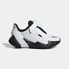 【公式】アディダス adidas ランニング スターウォーズ 4UTURE RNR / Star Wars 4uture RNR キッズ シューズ スポーツシューズ 白 ホワイト FV5789 ランニングシューズ スパイクレス