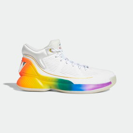 【公式】アディダス adidas バスケットボール D ローズ 10 プライド / D Rose 10 Pride メンズ シューズ スポーツシューズ 白 ホワイト FX4795 バッシュ スパイクレス p0122