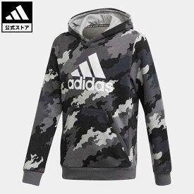 【公式】アディダス adidas 返品可 Must Haves Badge of Sport Pullover キッズ ウェア・服 トップス パーカー(フーディー) スウェット(トレーナー) グレー GE0693 トレーナー