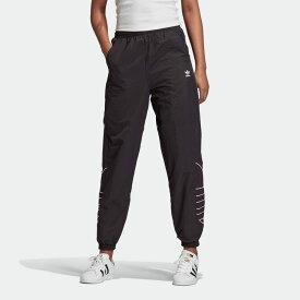 【公式】アディダス adidas ラージロゴ トラックパンツ(ジャージ) オリジナルス レディース ウェア ボトムス ジャージ パンツ 黒 ブラック GD2417 下 dance p0122