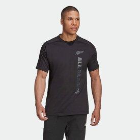 【公式】アディダス adidas ラグビー オールブラックス サポーター 半袖Tシャツ / All Blacks Supporters Tee メンズ ウェア トップス Tシャツ 黒 ブラック FS0706 半袖 p1030