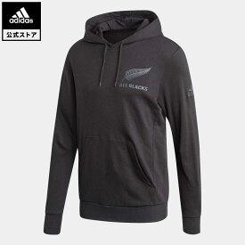 【公式】アディダス adidas 返品可 ラグビー オールブラックス サポーターパーカー / All Blacks Supporters Hoodie メンズ ウェア・服 トップス パーカー(フーディー) スウェット(トレーナー) 黒 ブラック FS0707 トレーナー