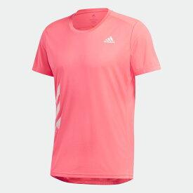 【公式】アディダス adidas ランニング ラン イット 3ストライプス 半袖PB Tシャツ / Run It 3-Stripes PB Tee メンズ ウェア トップス Tシャツ ピンク GC7898 ランニングウェア 半袖