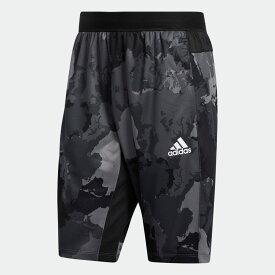 【公式】アディダス adidas ジム・トレーニング コンチネント カモ シティ ロングショーツ / Continent Camo City Long Shorts メンズ ウェア ボトムス ハーフパンツ グレー GH5161