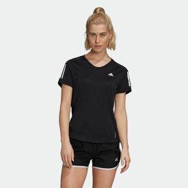 【公式】アディダス adidas ランニング オウン ザ ラン クーラー 半袖Tシャツ / Own the Run Cooler Tee レディース ウェア トップス Tシャツ 黒 ブラック GC6627 ランニングウェア 半袖