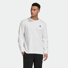 【公式】アディダス adidas バック&フロント プリント トレフォイル 長袖Tシャツ オリジナルス レディース メンズ ウェア トップス Tシャツ 白 ホワイト GE0860 半袖 p0304