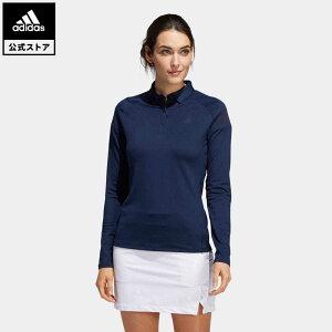 【公式】アディダス adidas ゴルフ ショルダーストライプ 長袖ボタンダウンシャツ 【ゴルフ】 / Lightweight Long Sleeve Polo Shirt レディース ウェア トップス ポロシャツ 青 ブルー FS6313 p1023