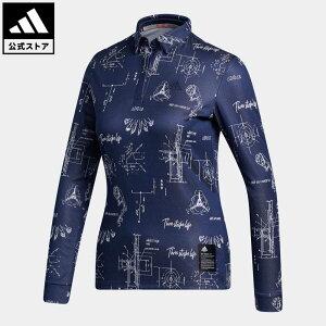 【公式】アディダス adidas ゴルフ ヒストリカルパターン 長袖ボタンダウンシャツ 【ゴルフ】/ Allover Print Long Sleeve Polo Shirt レディース ウェア トップス ポロシャツ 青 ブルー FS6361 p1023