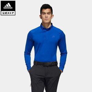 【公式】アディダス adidas ゴルフ ショルダーストライプ 長袖ボタンダウンシャツ 【ゴルフ】 / Lightweight Long Sleeve Polo Shirt メンズ ウェア トップス ポロシャツ 青 ブルー FS6835 p1023