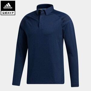 【公式】アディダス adidas ゴルフ ショルダーストライプ 長袖ボタンダウンシャツ 【ゴルフ】 / Lightweight Long Sleeve Polo Shirt メンズ ウェア トップス ポロシャツ 青 ブルー FS6836 p1023
