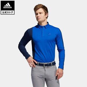 【公式】アディダス adidas ゴルフ カラーブロック 長袖ボタンダウンシャツ 【ゴルフ】 / Colorblock Long Sleeve Polo Shirt メンズ ウェア トップス ポロシャツ 青 ブルー FS6838 p1023
