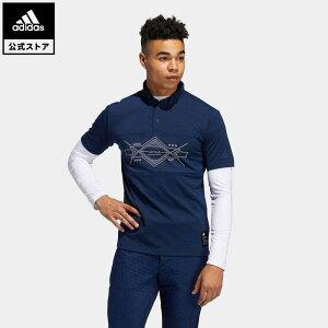 【公式】アディダス adidas ゴルフ グラフィック レイヤードボタンダウンシャツ 【ゴルフ】/ Two-in-One Long Sleeve Polo Shirt メンズ ウェア トップス ポロシャツ 青 ブルー FS6854 p1023