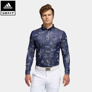 【公式】アディダス adidas ゴルフ ヒストリカルパターン 長袖ボタンダウンシャツ 【ゴルフ】/ Allover Print Long Sleeve Polo Shirt メンズ ウェア トップス ポロシャツ 青 ブルー FS6874 p1023