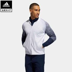 【公式】アディダス adidas 返品可 ゴルフ ファブリックミックス ストレッチ長袖ジャケット / Fully Woven Jacket メンズ ウェア・服 トップス セーター 白 ホワイト FS6898 notp