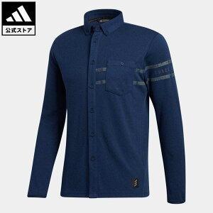 【公式】アディダス adidas ゴルフ ADICROSS 長袖ボタンダウンシャツ 【ゴルフ】 / Adicross Long Sleeve Polo Shirt メンズ ウェア トップス ポロシャツ 青 ブルー GD9079 p1023