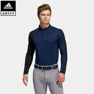 【公式】アディダス adidas ゴルフ カラーブロック 長袖ボタンダウンシャツ 【ゴルフ】 / Colorblock Long Sleeve Polo Shirt メンズ ウェア トップス ポロシャツ 青 ブルー GL8495 p1023