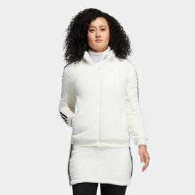 【公式】アディダス adidas ゴルフ スリーストライプス ボアフリース3Pセットアップ 【ゴルフ】/ Boa Fleece Three-Piece Set レディース ウェア セットアップ 白 ホワイト GM1479 上下 p1023