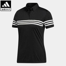 【公式】アディダス adidas 返品可 ゴルフ スリーストライプス 半袖シャツ / S/S POLO レディース ウェア・服 トップス ポロシャツ 黒 ブラック FS6464 notp