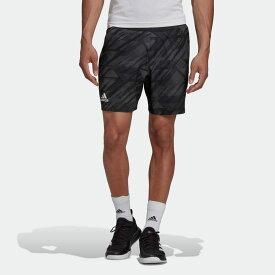 【公式】アディダス adidas テニス エルゴ テニス プリント ショーツ AEROREADY / ERGO TENNIS PRINTED SHORTS AEROREADY メンズ ウェア ボトムス ショートパンツ 黒 ブラック GG3739