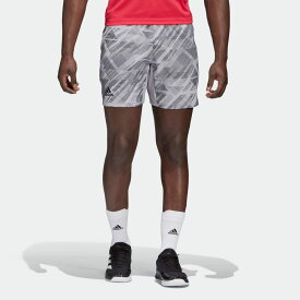 【公式】アディダス adidas テニス エルゴ テニス プリント ショーツ AEROREADY / ERGO TENNIS PRINTED SHORTS AEROREADY メンズ ウェア ボトムス ショートパンツ グレー GG3740