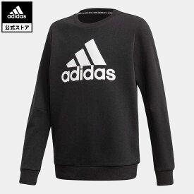 【公式】アディダス adidas 返品可 マストハブ クルー スウェットシャツ / Must Haves Crew Sweatshirt キッズ ウェア・服 トップス スウェット(トレーナー) 黒 ブラック FM6448