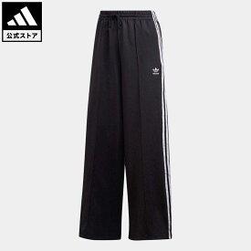 【公式】アディダス adidas 返品可 PRIMEBLUE リラックス ワイドレッグパンツ オリジナルス レディース ウェア・服 ボトムス パンツ 黒 ブラック GD2273