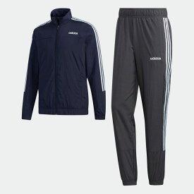 【公式】アディダス adidas エッセンシャルズ ウーブン トラックスーツ(ジャージセットアップ) / Essentials Woven Track Suit メンズ ウェア セットアップ ジャージ 黒 ブラック GD5495 上下