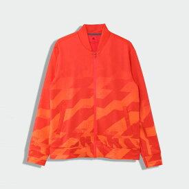 【公式】アディダス adidas ゴルフ ジオメトリックプリント 長袖フルジップライニングスウェット 【ゴルフ】/ Jersey Jacket メンズ ウェア アウター ジャケット ピンク FS6917 p1023 p0122