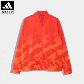 【公式】アディダス adidas ゴルフ ジオメトリックプリント 長袖フルジップライニングスウェット 【ゴルフ】/ Jersey Jacket メンズ ウェア アウター ジャケット ピンク FS6917 p1023 p0409