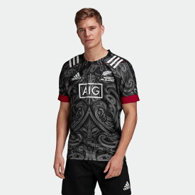 【公式】アディダス adidas ラグビー マオリ レプリカジャージー メンズ ウェア トップス ユニフォーム 黒 ブラック GH5013